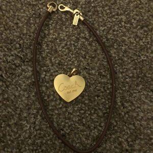 coach necklace + heart locket